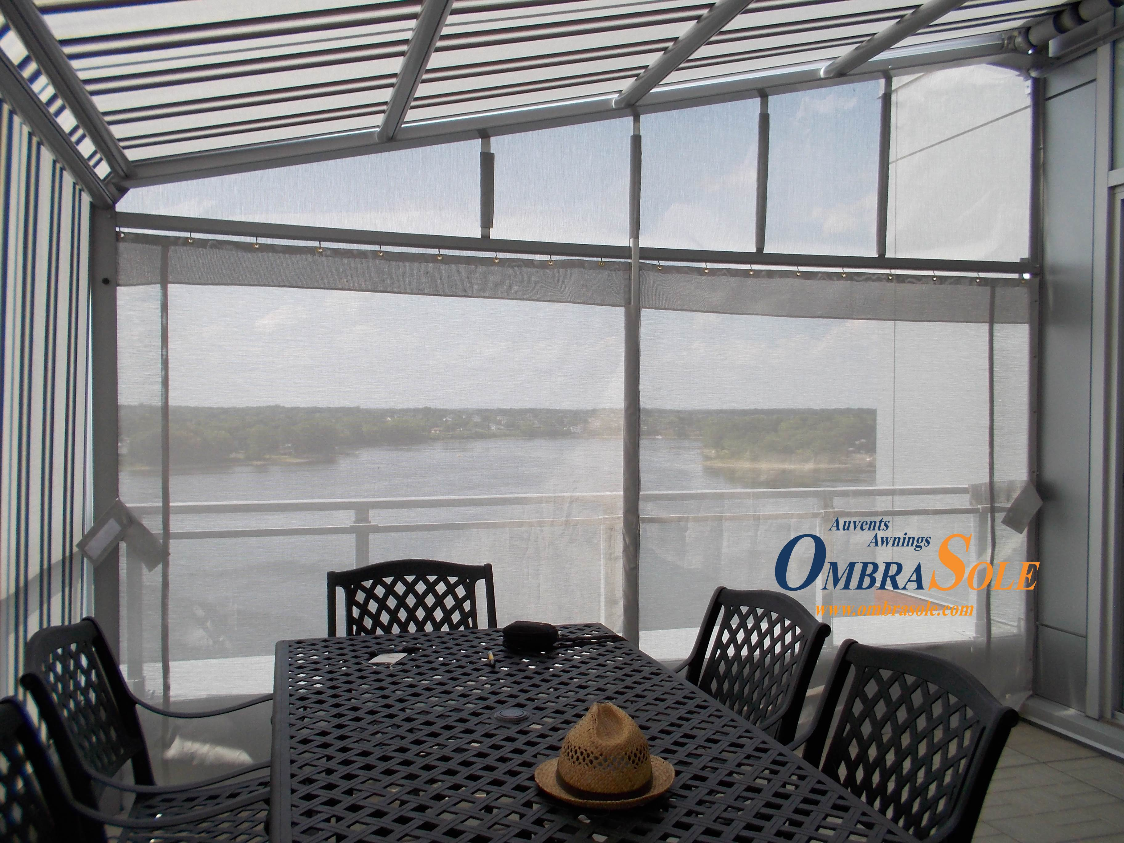 ombrasole awnings | retractable awnings with canvas or a louvered