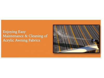 Enjoying Easy Maintenance & Cleaning of Acrylic Awning Fabrics