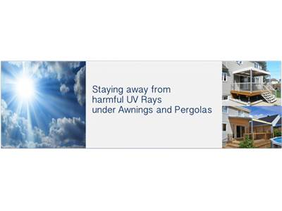 Staying away from harmful UV Rays under Awnings and Pergolas