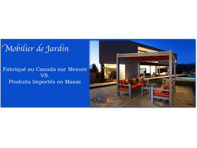 Garden Furniture: Custom-Made in Canada vs. Imported and Mass-Produced