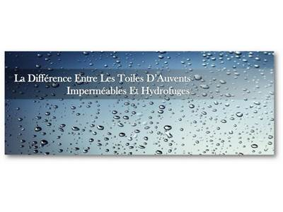 The Difference Between Waterproof & Water-Repellent Awning Canvases