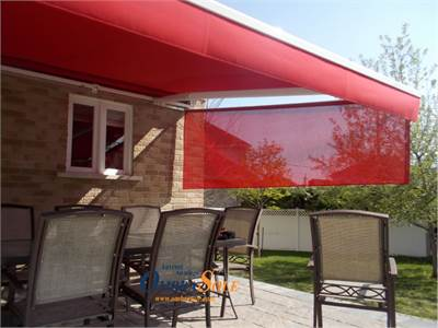 Why the rain passes through the seam of the fabric of a retractable awning?